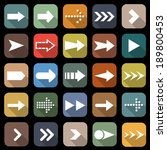 arrow flat icons with long... | Shutterstock .eps vector #189800453