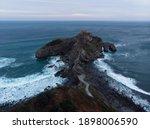 Aerial Panorama Of Gaztelugatxe ...