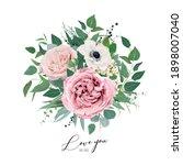 vector art floral watercolor... | Shutterstock .eps vector #1898007040