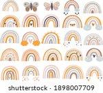 set of rainbows. brown rainbow. ... | Shutterstock .eps vector #1898007709