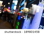 display of stock market quotes  | Shutterstock . vector #189801458