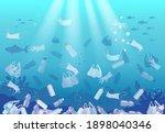 global ocean pollution by... | Shutterstock .eps vector #1898040346