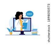 online consultation of a family ... | Shutterstock .eps vector #1898050573