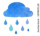 cloud with rain drops   vector... | Shutterstock .eps vector #189805118