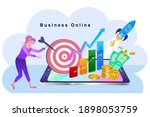 woman using mobile apps for...   Shutterstock .eps vector #1898053759