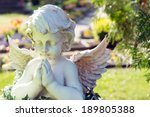 Angel Figure In A Cemetery  ...