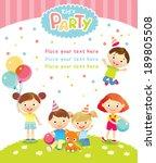 children's party | Shutterstock .eps vector #189805508