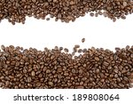closeup of coffee beans on... | Shutterstock . vector #189808064