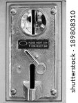 Old Metal Coin Slot Panel From...