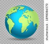 world view 3d. vector globe map ...   Shutterstock .eps vector #1898086570