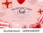 valentine's day sale banner...   Shutterstock .eps vector #1898108509