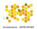 hexagonal golden yellow...   Shutterstock .eps vector #1898109469