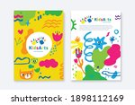 kids arts logo and stationery... | Shutterstock .eps vector #1898112169