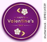 round banner with a flower of... | Shutterstock .eps vector #1898114539