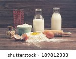 A Measuring Glass  Bottles Of...