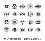 black flat style icon set of... | Shutterstock .eps vector #1898130970