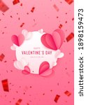 happy st. valentine s day card... | Shutterstock .eps vector #1898159473