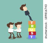 trust building business concept | Shutterstock .eps vector #189816743