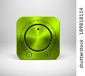 green abstract technology app...