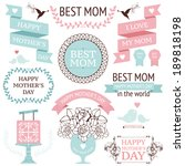 vector collection of decorative ... | Shutterstock .eps vector #189818198