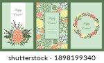 set of vector cards. happy...   Shutterstock .eps vector #1898199340