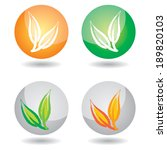 icon set with abstract hand...   Shutterstock .eps vector #189820103