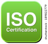 iso certification button | Shutterstock . vector #189822779