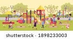 kids playing in the playground  ... | Shutterstock .eps vector #1898233003
