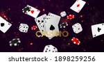 playing card. winning poker... | Shutterstock .eps vector #1898259256