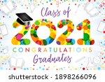 class of 2021 year graduation...   Shutterstock .eps vector #1898266096