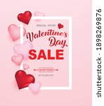 valentines day sale background...   Shutterstock .eps vector #1898269876