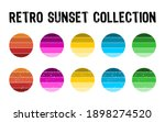retro sunset collection in 80s... | Shutterstock .eps vector #1898274520