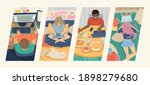 banner of people with computers ... | Shutterstock .eps vector #1898279680