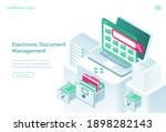 electronic documents management ...   Shutterstock .eps vector #1898282143