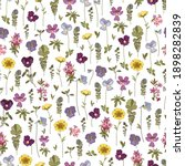 floral background with pansy... | Shutterstock .eps vector #1898282839