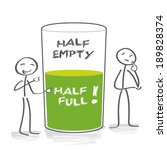 optimism and pessimism. two... | Shutterstock . vector #189828374