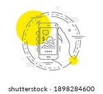 check investment line icon....   Shutterstock .eps vector #1898284600