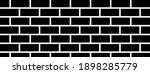 black brick wall vector...   Shutterstock .eps vector #1898285779