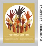 large group of happy hands... | Shutterstock .eps vector #189830426