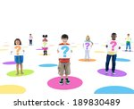 group of people holding board | Shutterstock . vector #189830489