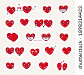 valentines day sticker pack....   Shutterstock .eps vector #1898314423
