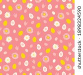 easter seamless pattern with... | Shutterstock .eps vector #1898324590