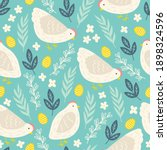 easter seamless pattern with... | Shutterstock .eps vector #1898324596