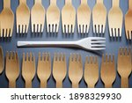 disposable wooden and plastic...   Shutterstock . vector #1898329930