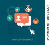 vector customer testimonials... | Shutterstock .eps vector #189835274