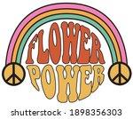 70s groovy flower power slogan... | Shutterstock .eps vector #1898356303