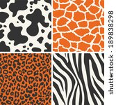 collection of four vector skin... | Shutterstock .eps vector #189838298