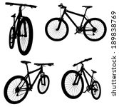 set of bikes silhouettes | Shutterstock .eps vector #189838769