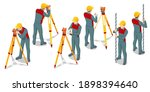 isometric surveying measuring... | Shutterstock .eps vector #1898394640