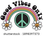 70s groovy good vibes only... | Shutterstock .eps vector #1898397373